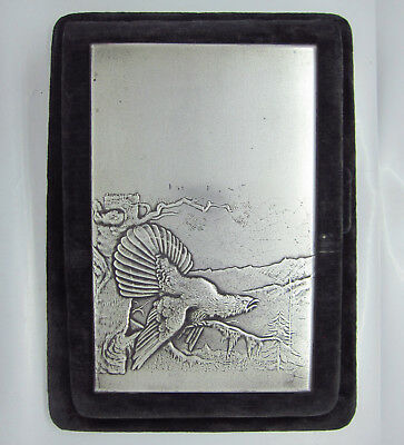 Rare Antique Russian Sterling Silver Notebook case