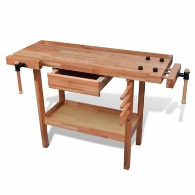 Stupendous Hardwood Carpentry Work Bench With Drawer 2 Vises Diy Pdpeps Interior Chair Design Pdpepsorg