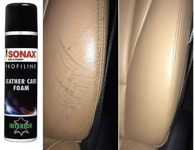 Sonax Profline Leather Care Foam Keeps Leather Extremely Supple Beeswax No Dyes