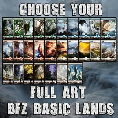 Choose Your BFZ / OGW - Basic Full Art Lands - MTG M/NM - Buy 1 Get 1 Free!