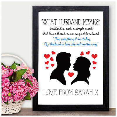 Personalised 1st First Wedding Anniversary Gifts For Husband Him