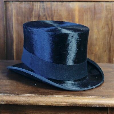 Antico cappello a cilindro primi '900 Antique cylinder hat top hat Italy '900s