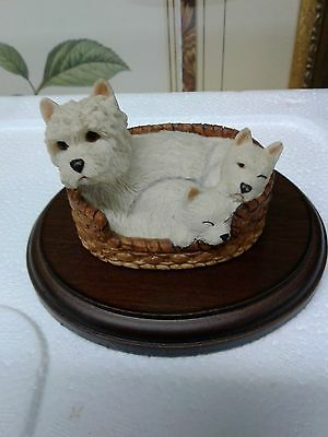 Westie Mother And Her Pups Sharratt & Simpson England Excellent Condition