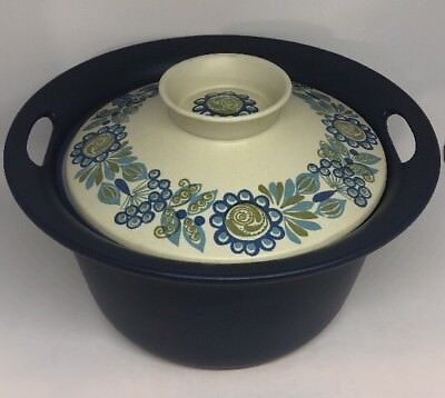 Norge Figgio Flameware For Viking Vulcanus Norway Covered Casserole Blue (19)