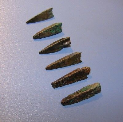 Scythian Vikings arrowheads 7 - 2 nd century BC bronze. ORIGINAL