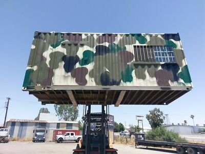20' Camo Storage Container, Shipping Containers, Hunting Shack, Portable Office