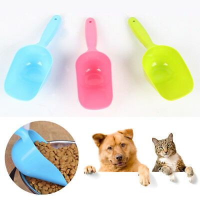 Plastic Pet Cat Dog Puppy Large Food Scooper Spoon Scoop Shovel Feeding Feeder