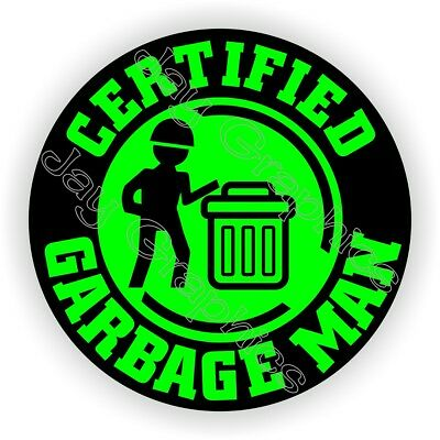 Hard Hat Sticker - FUNNY GARBAGE MAN - Helmet Decal Stickers Truck Driver Trash