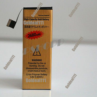 NEW High Capacity 2680mAh Replacement Gold Battery for Apple iPhone 5 5G