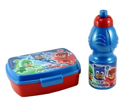 PJ MASKS Set 2 pz Pranzo BOX PORTA MERENDA + BORRACCIA Super Pigiamini lunch box
