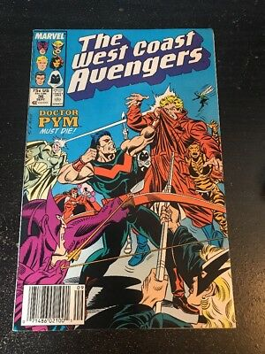 The West Coast Avengers#36 Incredible Condition 9.0(1988) Milgrom Art!!