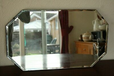 Art Deco Eight Sided Bevel Edged Mirror