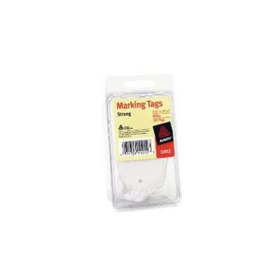 """Pack Of 100 Avery Marking Tags Strung 2.75 X 1.68"""" Es White (11012) Quick Durabl"""