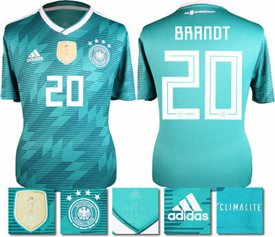 Brandt 20 - Germany Away 2018 World Cup Adidas Shirt Ss = Adults
