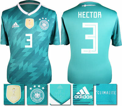 Hector 3 - Germany Away 2018 World Cup Adidas Shirt Ss = Adults