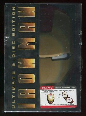 Iron Man Ultimate Edition DVD 2008 2-disc set Movie Exclusive Iron Man Packaging