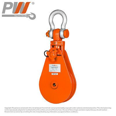 30 Ton Snatch Block Swivel Clevis Shackle wire rope pulley