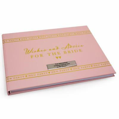 Personalised Hen Party Bride To Be Guest Book WG693-P