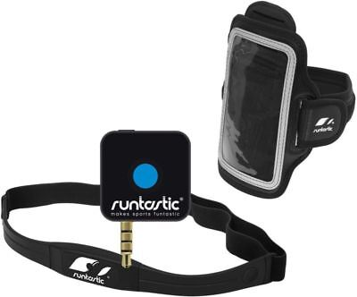Runtastic Pro Phone App & Wireless Heart Rate Monitor Chest Strap Apple / An