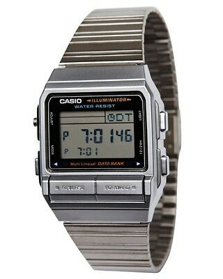 Casio DB380-1 Classic Multilingual Databank Stainless Steel Watch Telememo 30