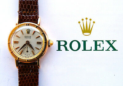 Rolex ♛ Precision 8823 Pink Gold 18C 750 Vintage Ledie's Luxury Watch 1950 Box