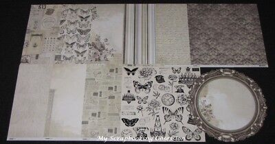 "Kaisercraft 'PEN & INK' 12x12"" Paper Vintage/Sepia (You choose) KAISER 04/18"