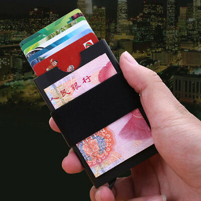 RFID Blocking Slim Wallet Aluminum ID Credit Card Holder Pop Up Money Clip Purse