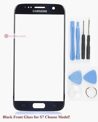 Black Front Outer top touch Screen Glass replacement part for Samsung Galaxy S7