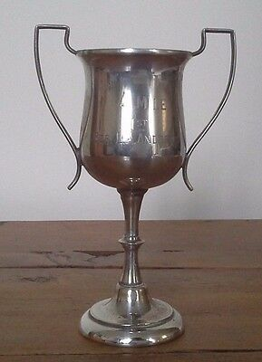 Vintage silver plate trophy, silver, trophy, trophies, antiques,sporting trophy