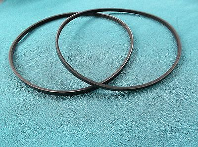 "2 New Drive Belts Made In Usa For Harbor Freight 65345 10"" Mini Lathe"