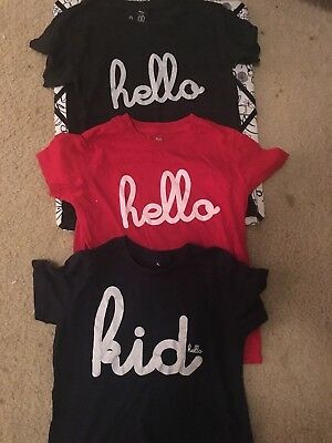 Hello Apparel Kids Unisex Boys Girls Size 8 Tee