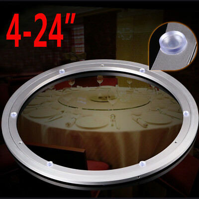 Aluminium Rotating Lazy Susan Bearing Turntable Round Swivel Plate Dining Room