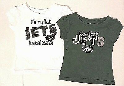 NFL Team My First New York Jets Season Toddler Girls 2 Pack T Shirt Set 2T 0256b03a9