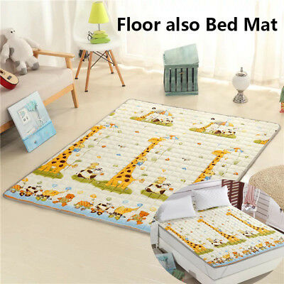 Children Kids Room Game Play Mat Baby Crawling Rug Carpet Cotton Blanket Floor