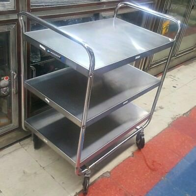 Lakeside 493 Stainless Steel w/ Chrome Plated Legs Cart Food Restaurant Hotels