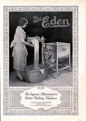 1922 Eden Electric Wash Machine Clean Laundry Home Ad6171