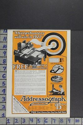 1922 Addressograph Typing Label Household Office Supply Machine  Ad Zl074