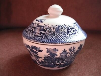 Lidded Sugar Bowl Willow Pattern