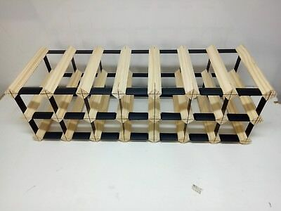21 Bottle Timber Wine Rack -Genuine BORDERS Product - 100% Australian