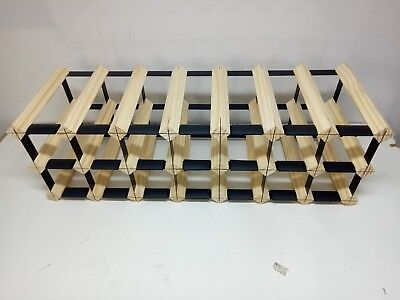 21 Bottle Timber Wine Rack - NATURAL PINE- Borders Original, Free Postage