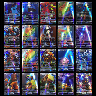 70Pcs Holo Flash Pokemon Trading Cards 69GX+1TRAINERI MEGA Card Bundle Gift