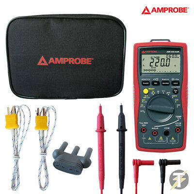 AMPROBE AM-550-EUR da elettricista MULTIMETRO DIGITALE CON TEST MINE custoria
