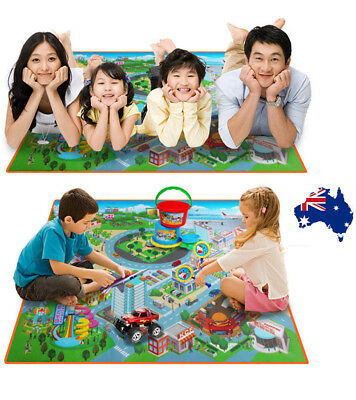 AU Kids Baby Play Mat Floor Rug Infant Kids Carpet Game Crawling Blanket Traffic