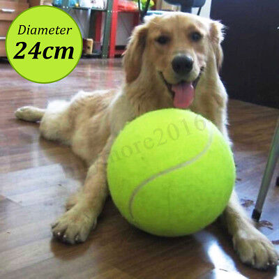 24cm Large Giant Pet Dog Puppy Tennis Ball Thrower Chucker Launcher Play Toy AU