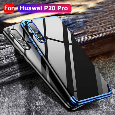 Hybrid 360° Plating Clear Silicone Shockproof Case Cover for Huawei P20 Pro/Lite