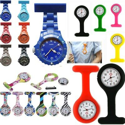 2018Silicone Nurse Watch Brooch Tunic Fob Watch With Free Battery Doctor Medical