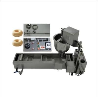 CE approved Commercial Automatic donut fryer/maker making machine,3 Set Mold