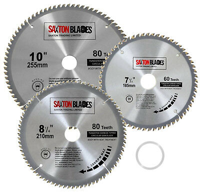 Saxton Circular Wood Saw Blades fits Evolution Rage Saws 25.4mm Ring