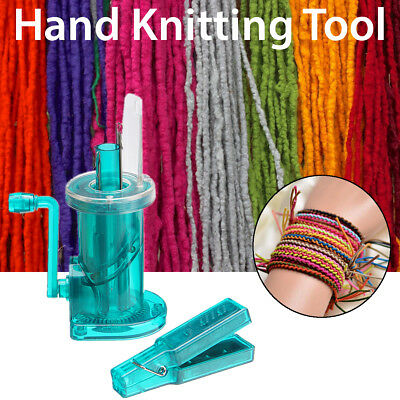 Hand Knitting Machine Spool Knitter Wool Winder Craft DIY Bracelet Weave Tool AU