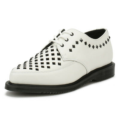 Dr. Martens Unisex Shoes White Rousden Willis Creeper Lace Up Smooth Leather 8da36cd5885